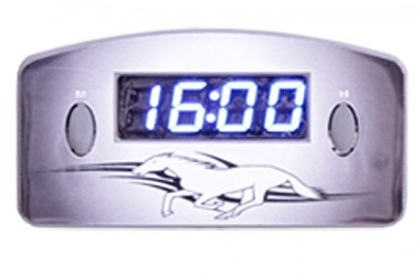 Relógio Automotivo Cinza – Visor Azul – Cavalo ( Código 09.015 )