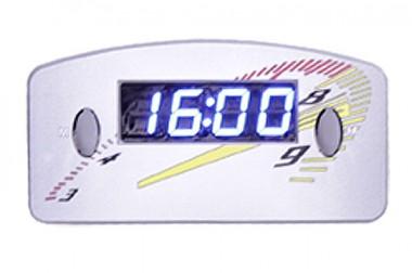 Relógio Automotivo Cinza – Visor Azul – Conta Giro ( Código 09.016 )