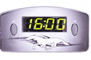 Relógio Automotivo Cinza – Visor Verde – Cavalo ( Código 09.013 )