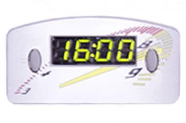 Relógio Automotivo Cinza – Visor Verde – Conta Giro ( Código 09.014 )