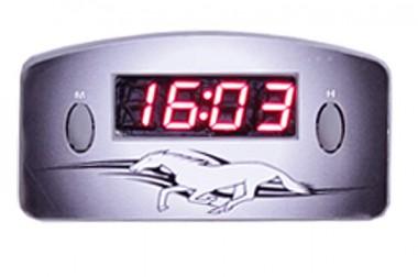Relógio Automotivo Cinza – Visor Vermelho – Cavalo ( Código 09.011 )