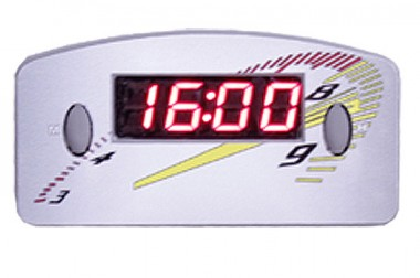 Relógio Automotivo Cinza – Visor Vermelho – Conta Giro ( Código 09.012 )
