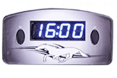 Relógio Automotivo Preto – Visor Azul – Cavalo ( Código 09.009 )