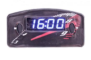 Relógio Automotivo Preto – Visor Azul – Conta Giro ( Código 09.010 )