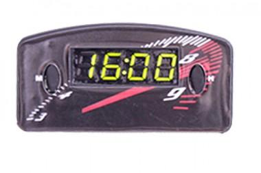 Relógio Automotivo Preto – Visor Verde – Conta Giro ( 09.008 )