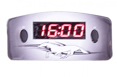 Relógio Automotivo Preto – Visor Vermelho – Cavalo ( Código 09.005 )