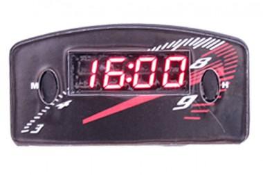 Relógio Automotivo Preto – Visor Vermelho – Conta Giro ( Código 09.006 )