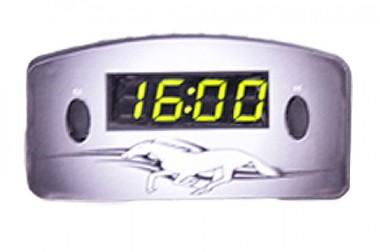 Relógio Automotivo Preto – Visor Verde – Cavalo ( Código 09.007 )