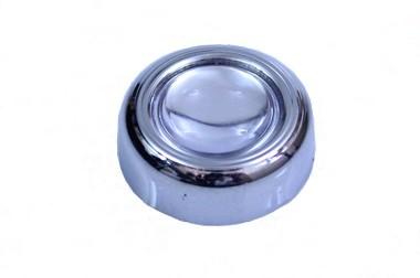 Capa de parafuso para placa com resinado prata
