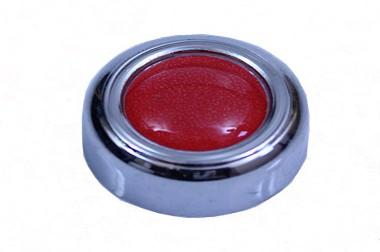Capa de parafuso para placa com resinado vermelho