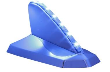 Antena Decorativa Tubarão Cromada Iluminada – com fita de led Azul