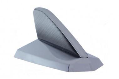 Antena Decorativa Tubarão Cromada c/ Resinado Fibra de Carbono