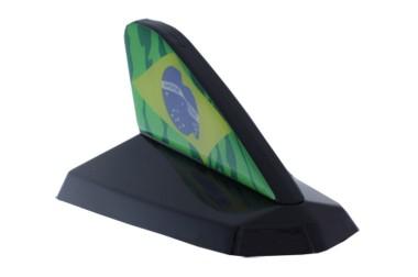 Antena Decorativa Tubarão Preto Cadilac c/ Resinado Brasil