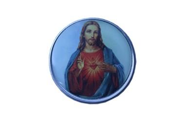 Auto Adesivo para Painel ( Santinho ) Sagrado Coração de Jesus