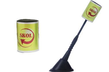 Enfeite para antena cerveja Skol
